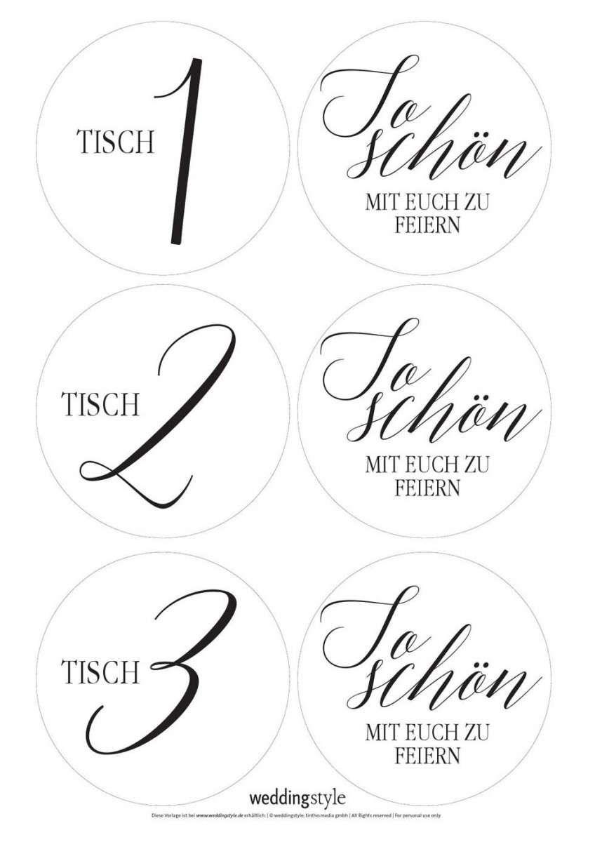 Tischnummern Calligraphie Tischnummern Kalligraphie Schrift Karte Hochzeit