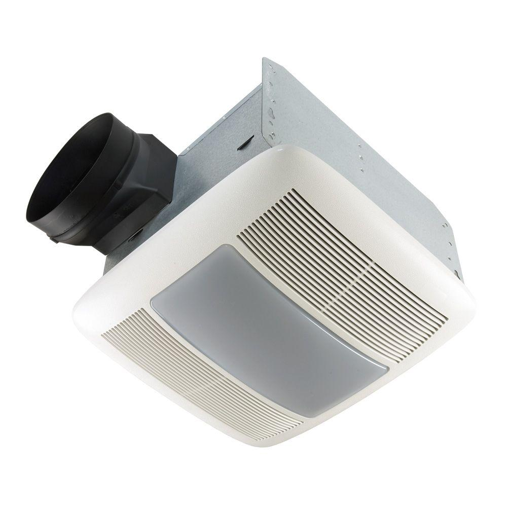 Nutone Qt Series Very Quiet 110 Cfm Ceiling Bathroom Exhaust Fan With Light And Night Light Energy Star Qtxen110flt With Images Bathroom Fan Light Exhaust Fan Light Bathroom Ventilation Fan