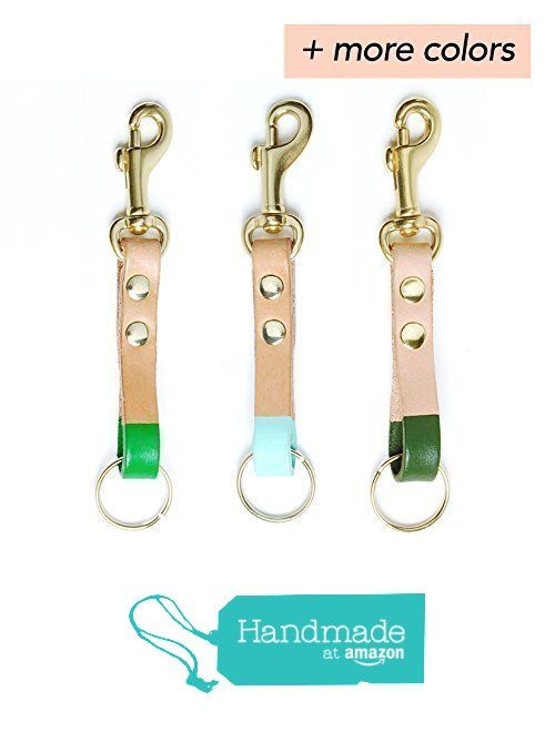 Colorful leather clip keychain from Son of a Sailor http://www.amazon.com/dp/B01590FNFM/ref=hnd_sw_r_pi_dp_BOnAwb1ZGDDAP #handmadeatamazon