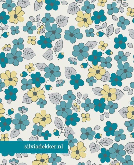 Silvia Dekker Floral pattern for HEMA. www.silviadekker.nl