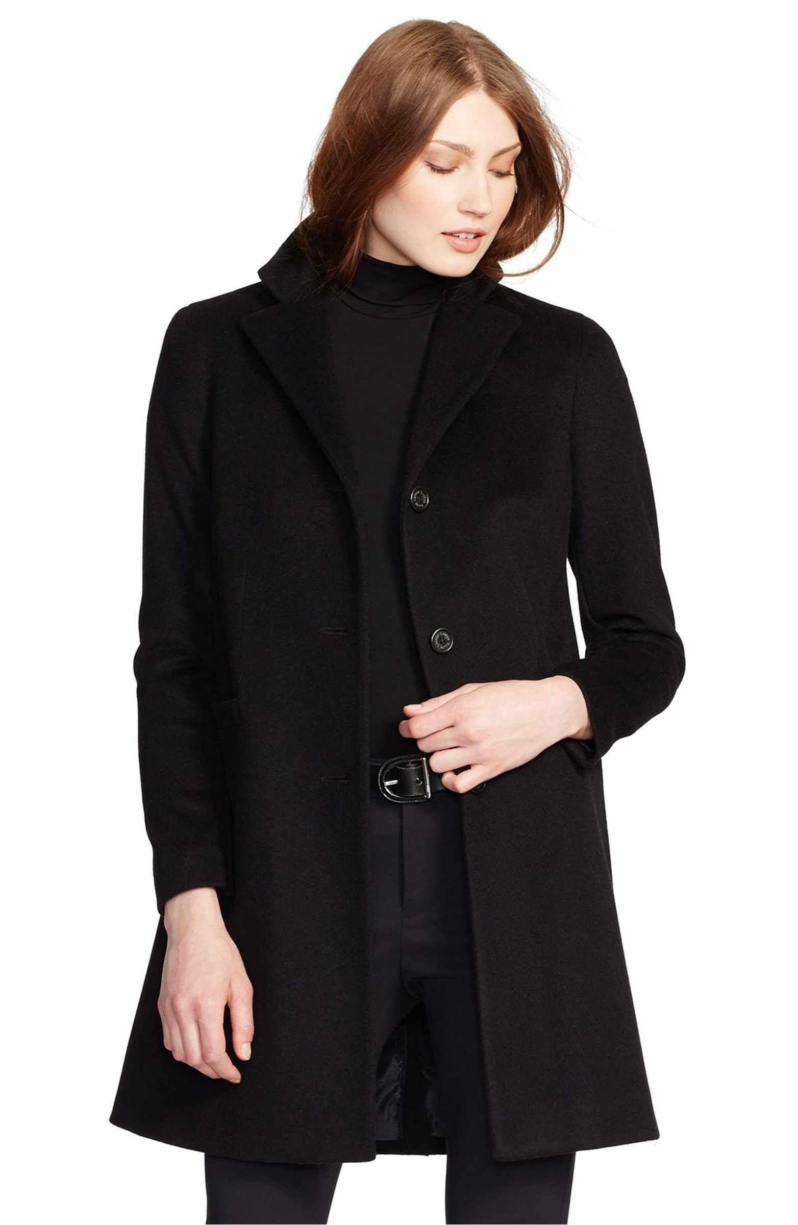 Main Image - Lauren Ralph Lauren Wool Blend Reefer Coat