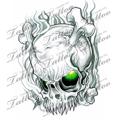 Marketplace Tattoo Skull smoke #3001 | CreateMyTattoo.com