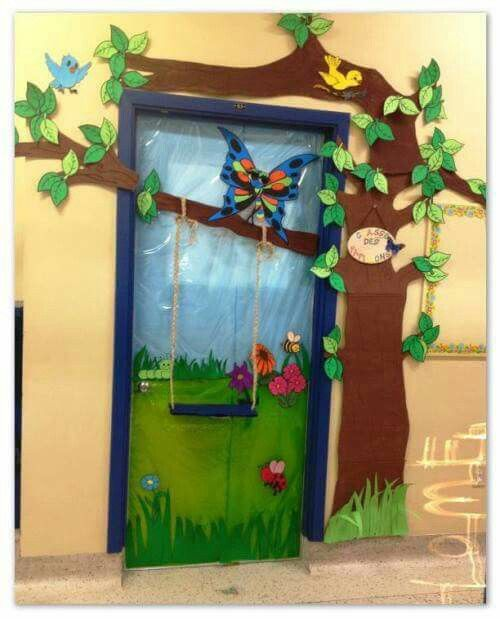 Porta Primavera Decoraciones Escolares Decoraciones De Puertas
