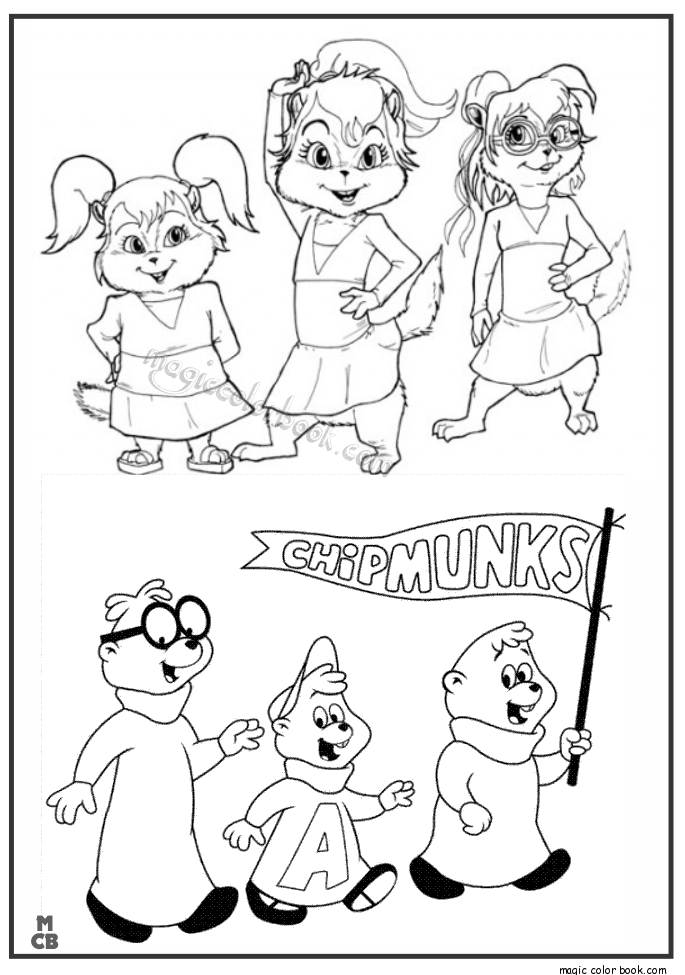 alvin and chipmunks coloring pages 04 | educação | Pinterest | Chipmunks