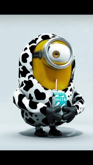 Milk, cow. See my Despicable Me Minions pins https://www.pinterest.com/search/my_pins/?q=minions