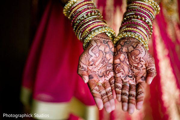 Indian bridal mehndi. http://www.maharaniweddings.com/gallery/photo/103315