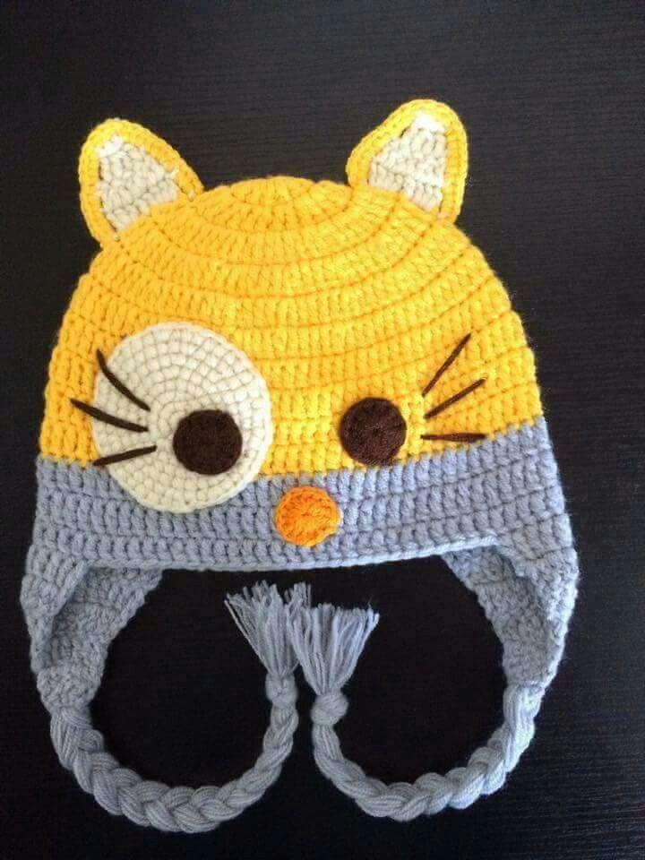 Pin de Maria Vargas en Crochet | Pinterest | Gorros, Gorros crochet ...