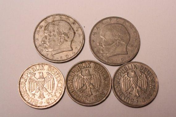 German Deutsche Mark Coins 5 Coins, German, Etsy