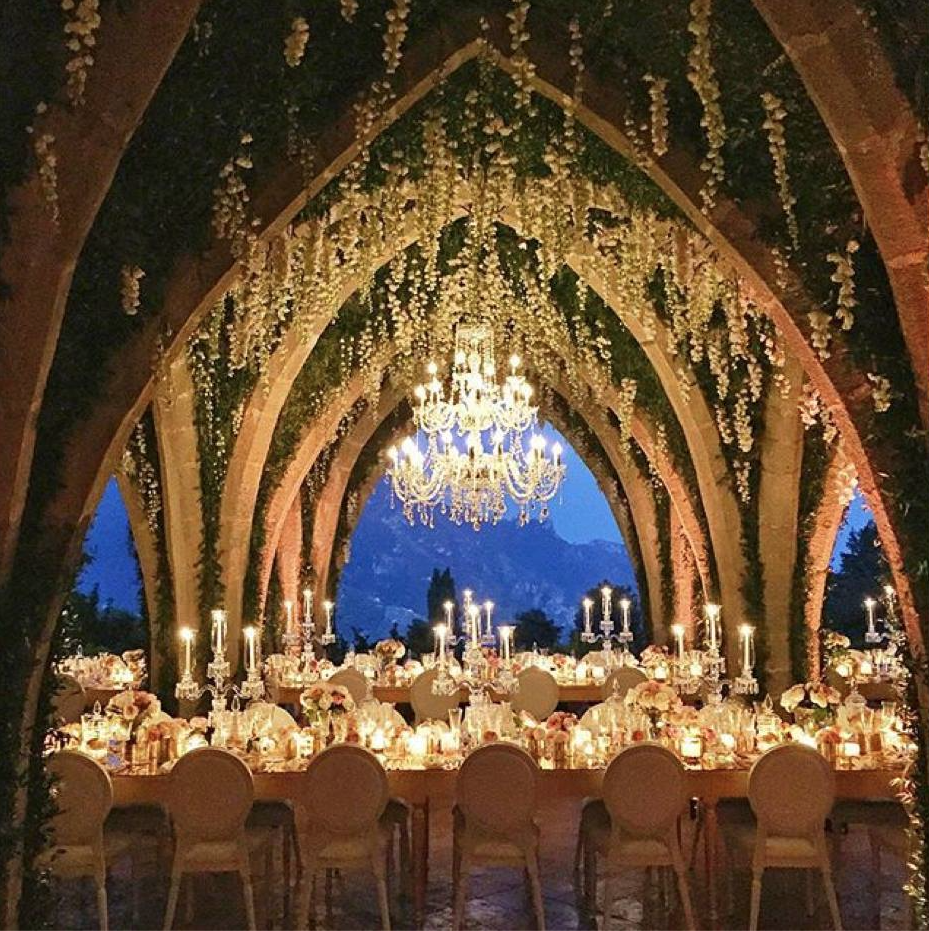 Beautiful Wedding Reception In Ravello Italy Villa Cimbrone