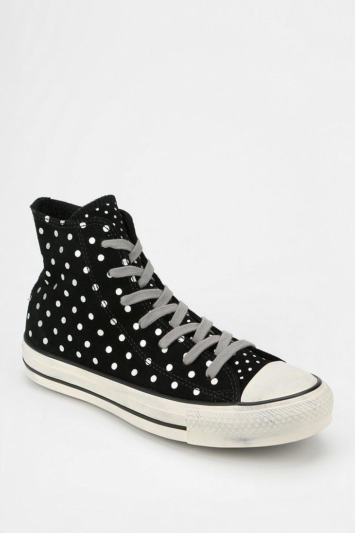 Converse Chuck Taylor All Star Polka Dot Suede Women s High-Top Sneaker f4b99a3da