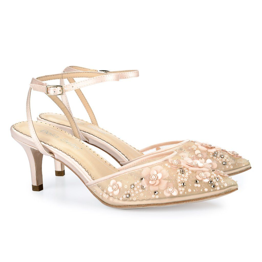 Low Heel Pearl Wedding Evening Shoes Wedding Shoes Heels Kitten Heel Wedding Shoes Blush Wedding Shoes