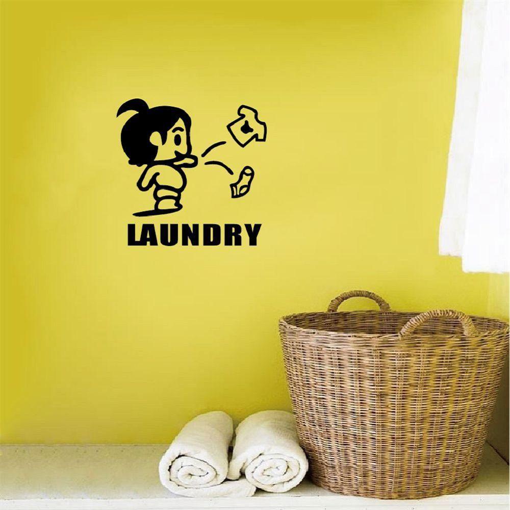 Kid-14 LAUNDRY Free Stickers Wall Stickers Cartoon Sketch Furniture ...