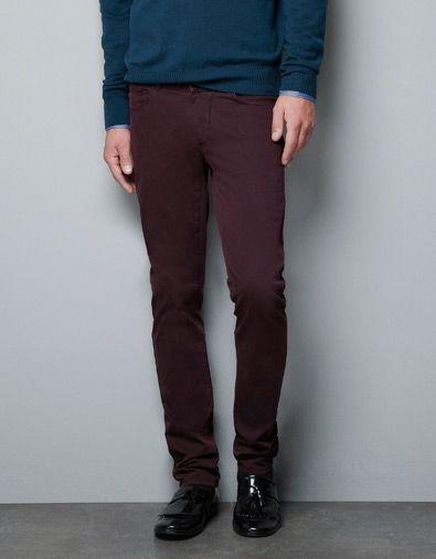 dbacf0f4 5 POCKET TROUSERS - Jeans - Man - ZARA United States Slim Fit Trousers,  Trouser