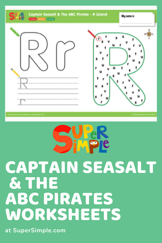 Worksheets For Kids Captain Seasalt The Abc Pirates Abc Worksheets For Kids Writing [ 1500 x 1000 Pixel ]