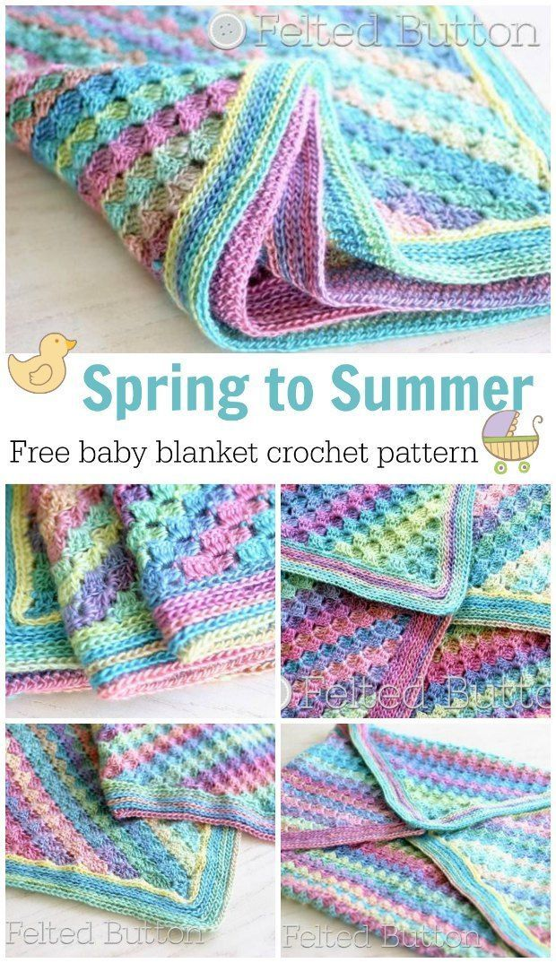 Spring Into Summer Blanket Free Crochet Pattern Baby Blanket