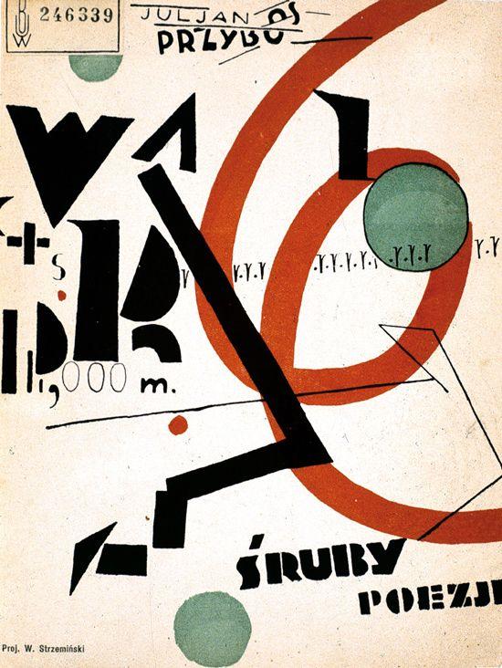 Władysław Strzemiński, Julian Przyboś, Screws, cover, 1925