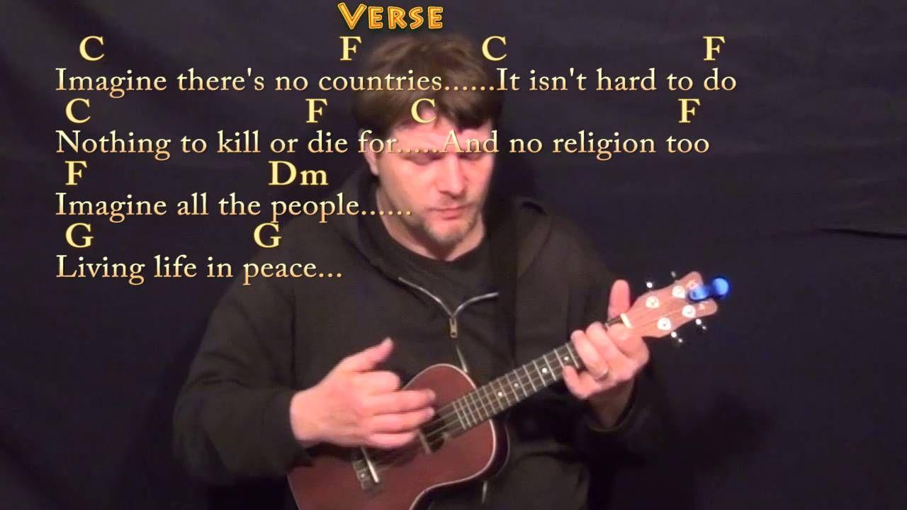 Imagine John Lennon Ukulele Cover Lesson In C With Chordslyrics