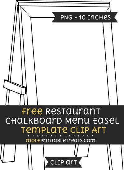 Free Restaurant Chalkboard Menu Easel Template - Clipart | Clipart ...