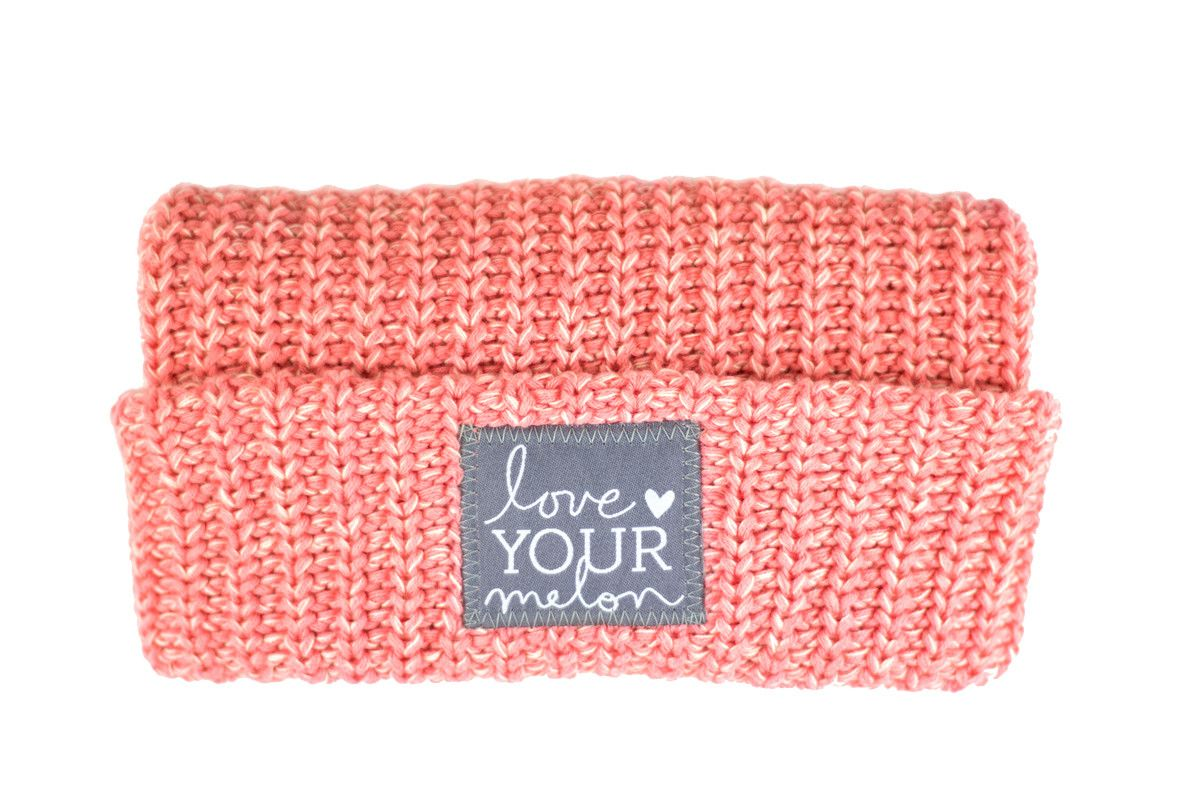 Salmon and White Speckled Cuffed Beanie – Love Your Melon Fifty Percent (50%) of net proceeds from the sale of this product will be donated equally to CureSearch for Children's Cancer and the Pinky Swear Foundation to fund cancer research initiatives and provide immediate support for families.