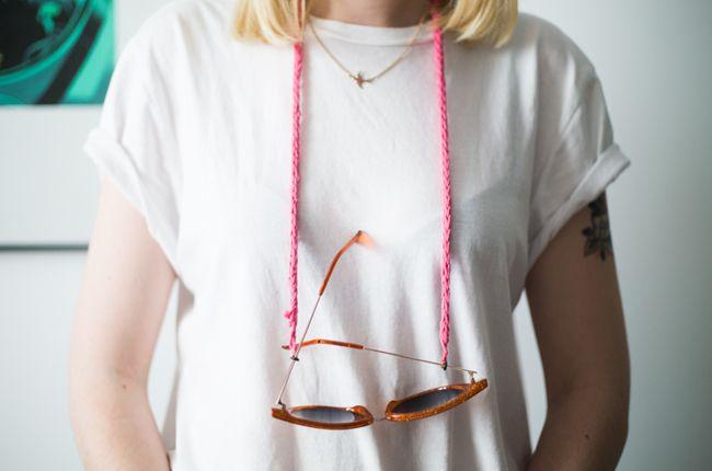 ae0cff865949 Patrón Gratuito: Cordón para gafas en crochet   proyectos crochet ...