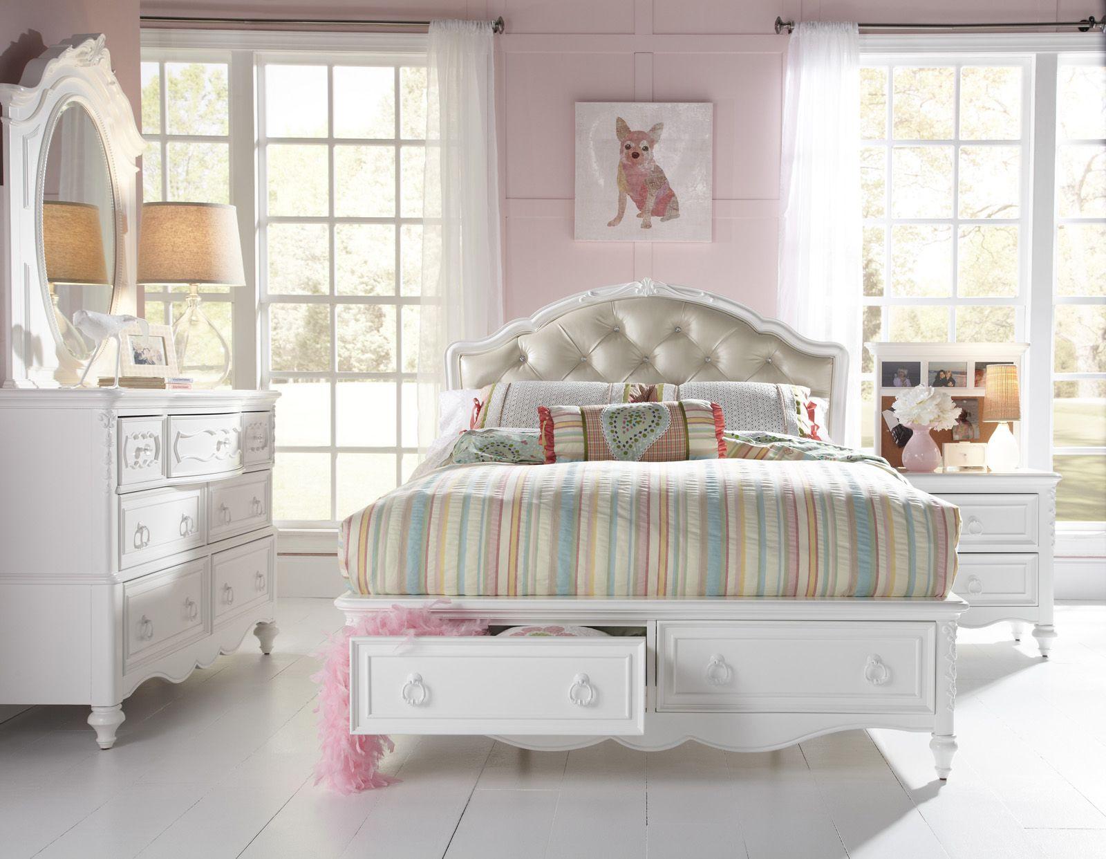 Samuel Lawrence Furniture SweetHeart 4 Piece Upholstered Bedroom