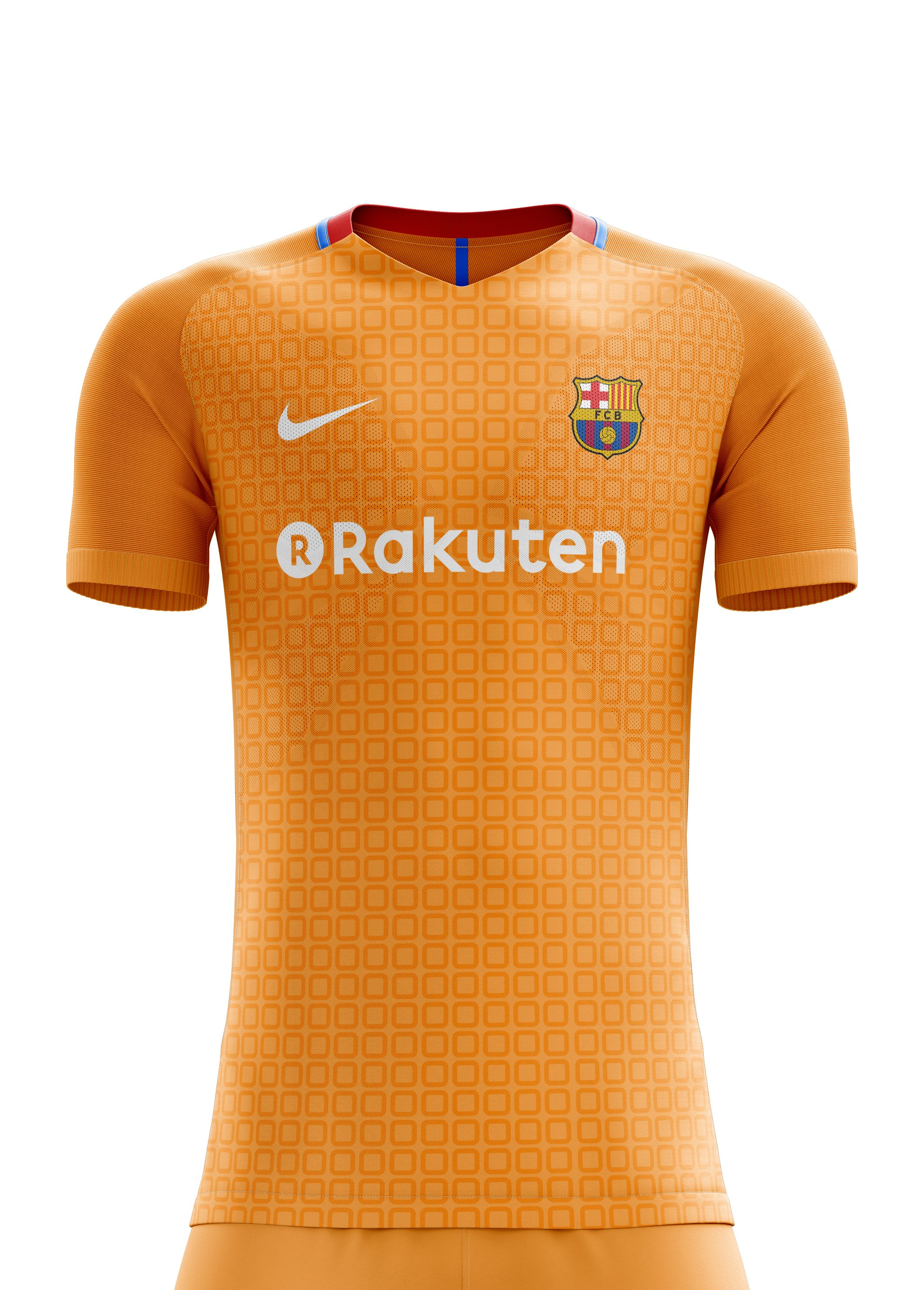 4c016e1ec08 I designed football kits for FC Barcelona for the upcoming season 18/19.  the home kit is inspired by shape of ...