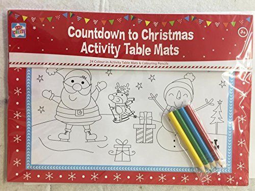 24 Piece Colour In Table Mats Book Christmas Activity C Https Www Amazon Co Uk Dp B01hy636wg Ref Cm Christmas Activities Table Mats Christmas Countdown