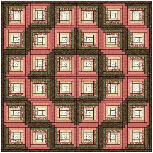 This is a Traditional Log Cabin Quilt Block. Description from ... : traditional log cabin quilt pattern - Adamdwight.com