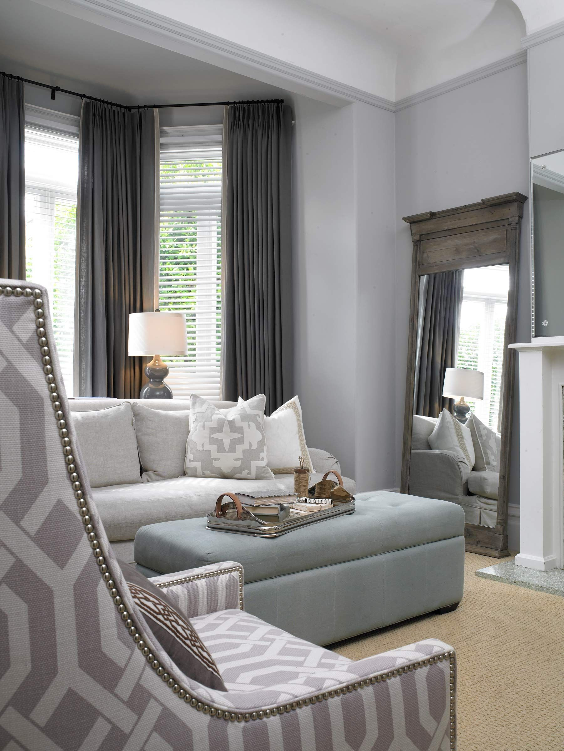 Living room kelly keiser projects living room grey - Gray living room walls ...