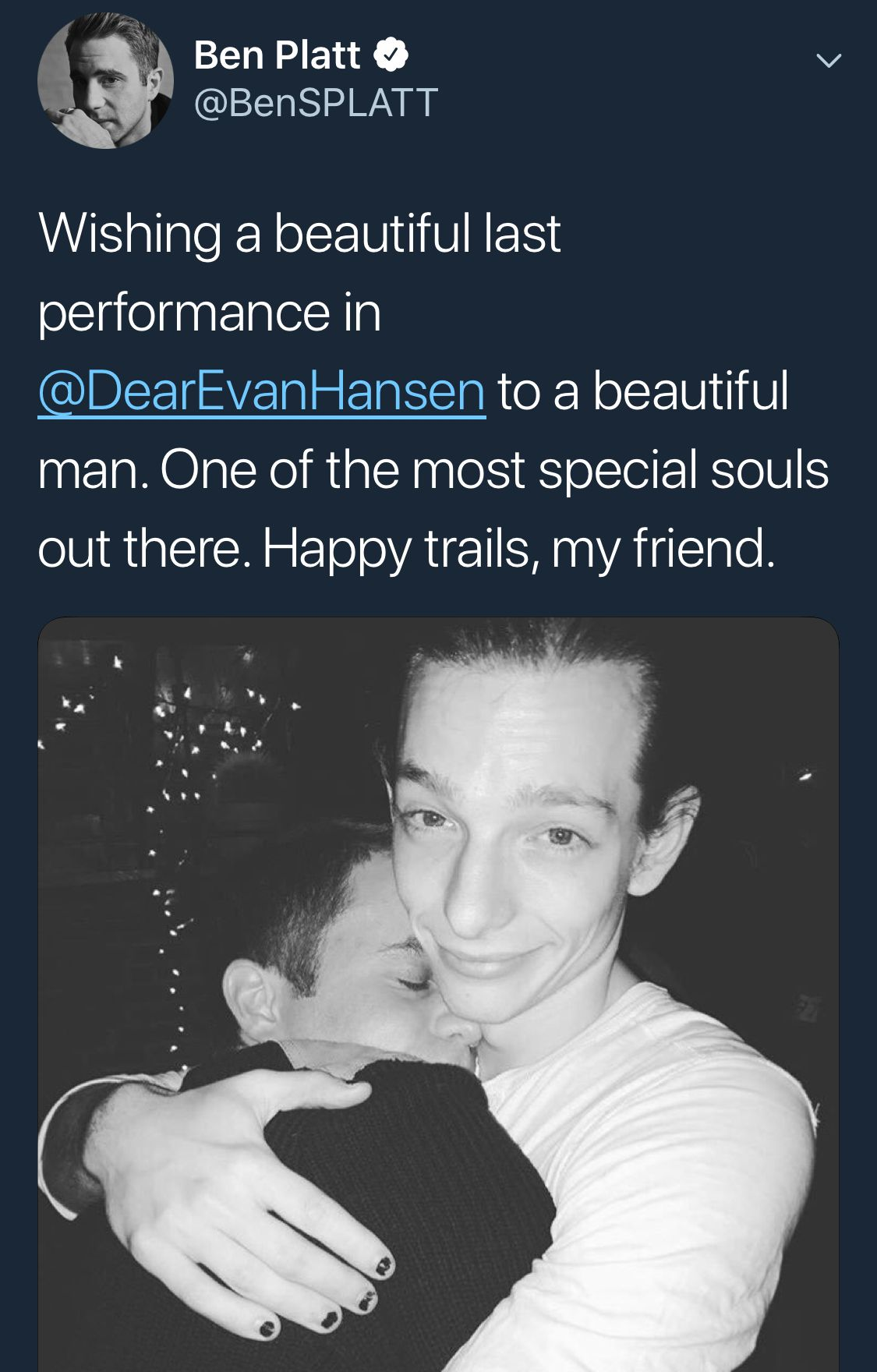 Ben Platt On Twitter Making Me Cry Dear Evan Hansen Dear Even Hansen Evan Hansen