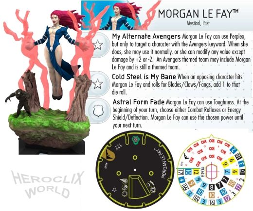 Morgan Le Fay #049 Marvel HeroClix Chaos War