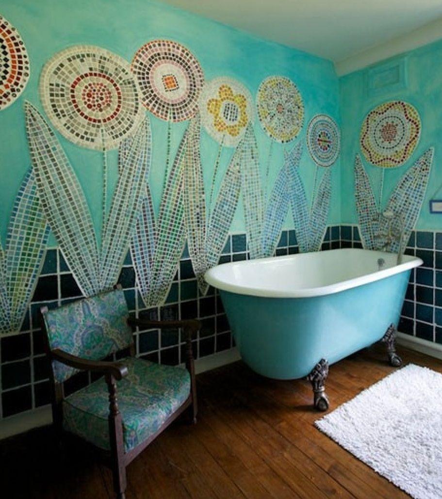 Beautiful Bathrooms Houzz: Beautiful Aqua / Blue Mosaic
