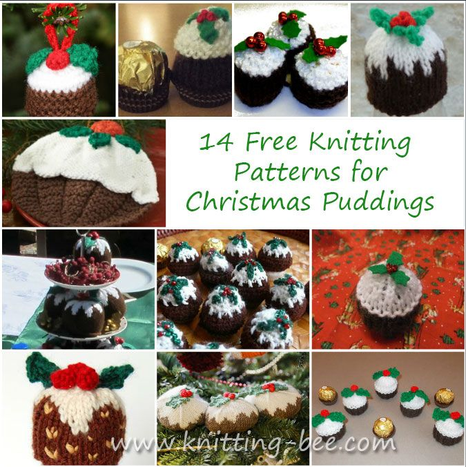 Knitting Patterns Christmas Puddings Knit Pinterest Christmas