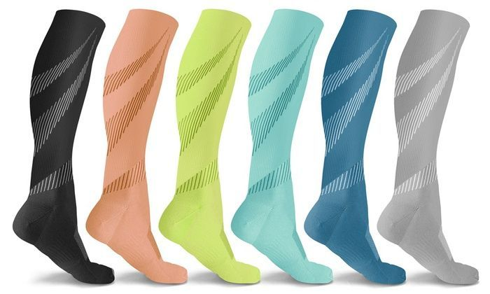 Underwear & Sleepwears Professional Compression Socks Breathable Travel Activities Fit For Nurses Shin Splints Anti Fatigue Leg Support Crew Sock Crazy Price