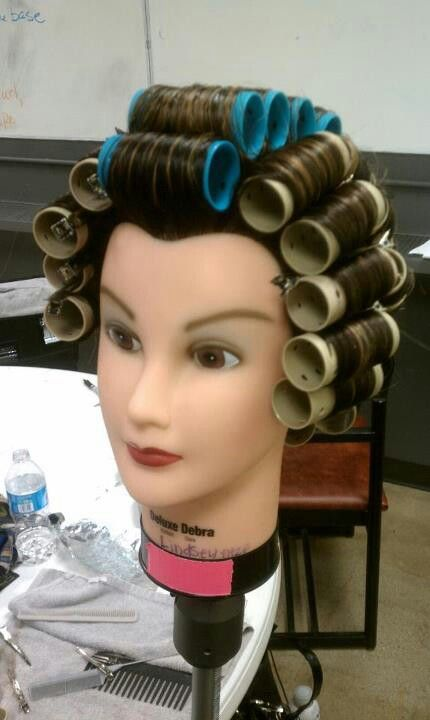 First roller set Hair rollers, Relaxed hair, Hair styles
