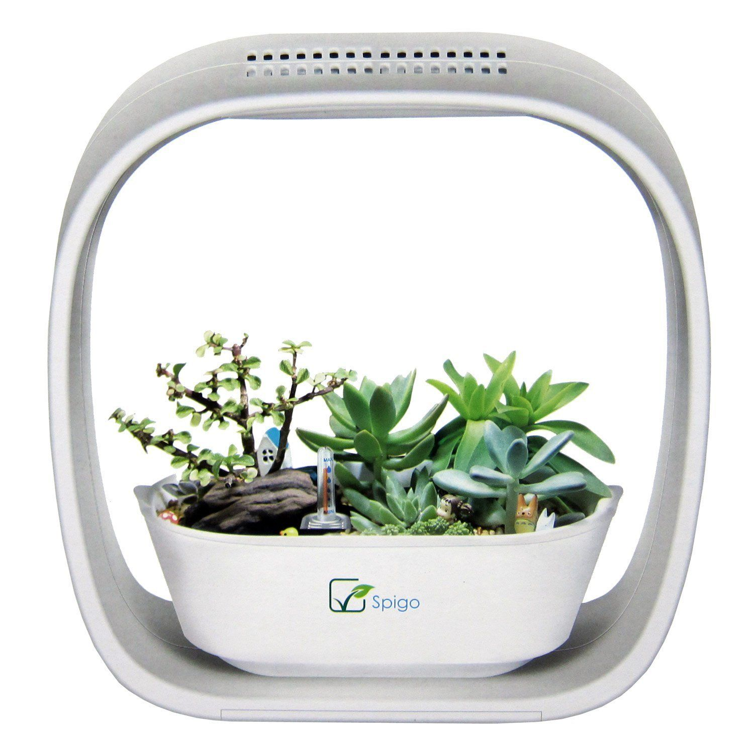 grow incredible herbs and plants in this gorgeous led light garden spigo indoor led light grow. Black Bedroom Furniture Sets. Home Design Ideas