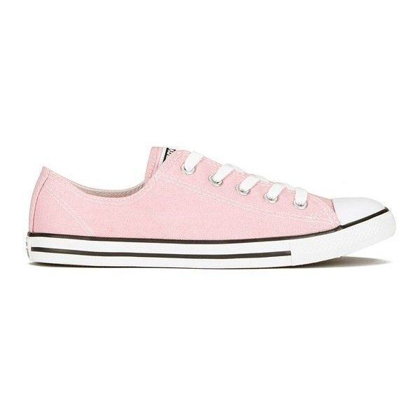 b29fe5d1e65415 Converse Womens Chuck Taylor All Star Dainty OX Trainers - Pink... found on  Polyvore featuring shoes