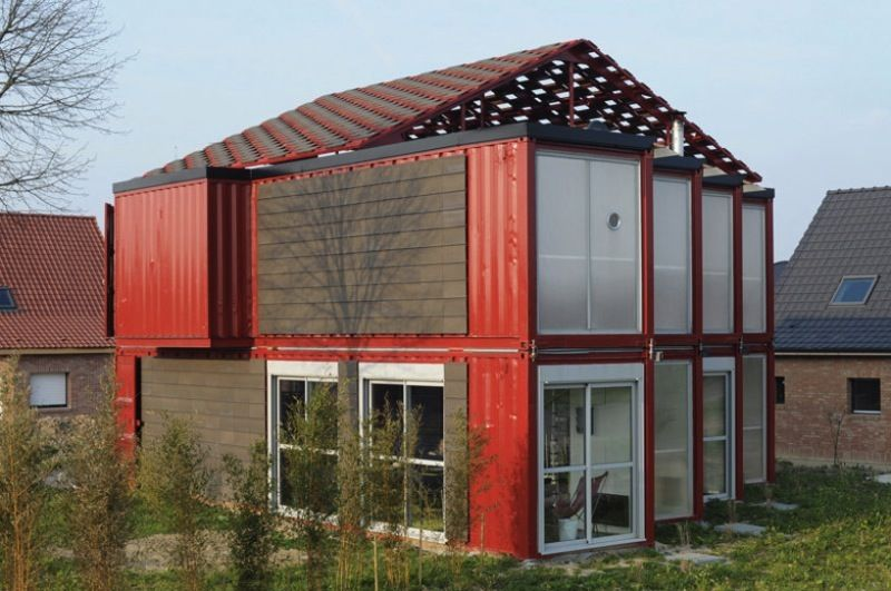 Maison container lille manuel djamdjian exterior i for Maison 6 container