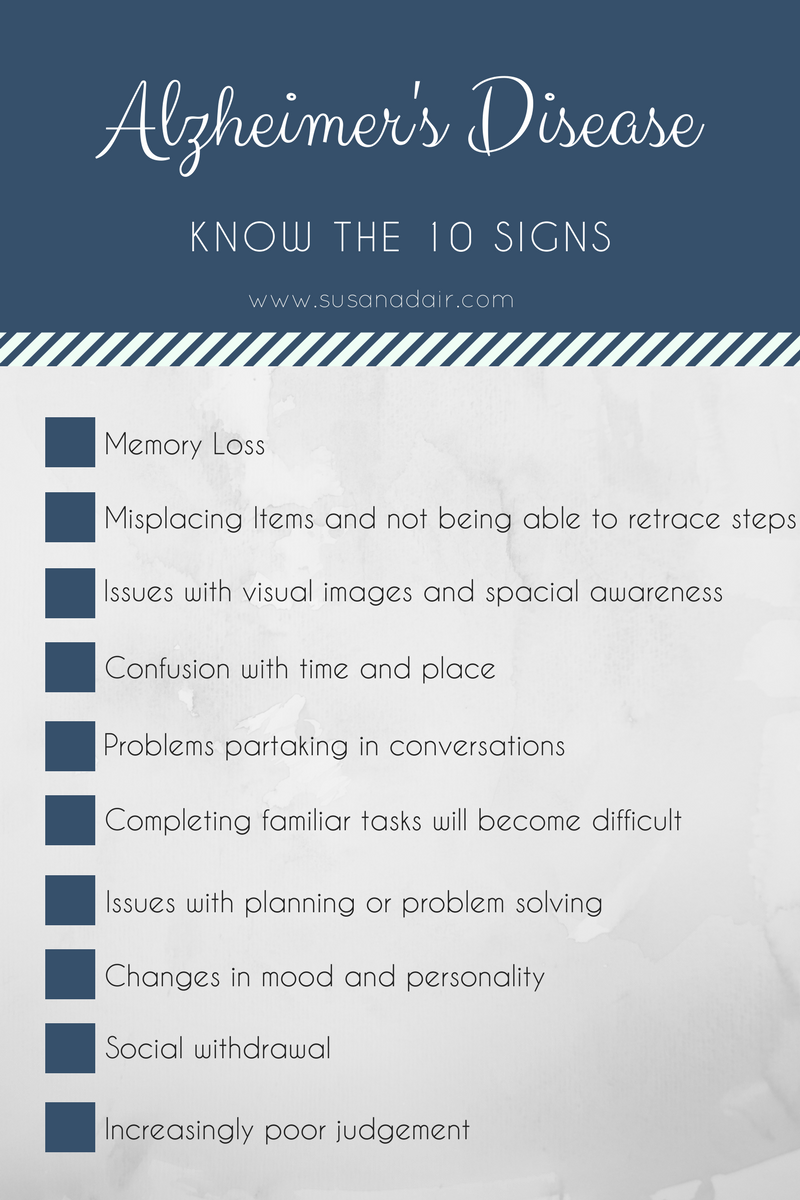 Alzheimers Disease Know The  Signs Blog Graphic
