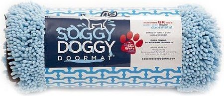http://www.amazon.com/shops/LorisPetCare Amazon.com: Soggy Doggy 26-Inch by 36-Inch Microfiber Chenille Doormat for Wet Dog Paws, Blue, Large: Pet Supplies