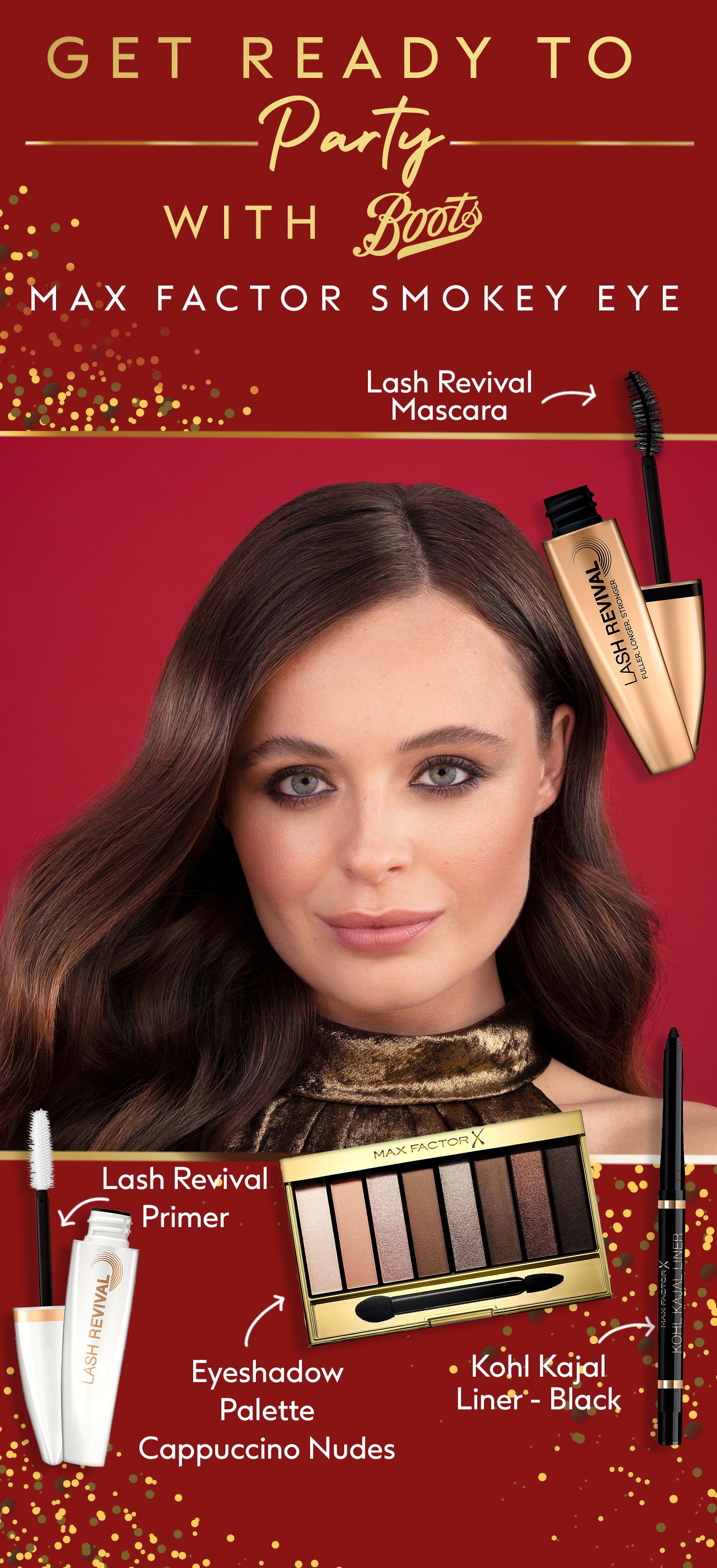 Create the party look of the season this christmas with