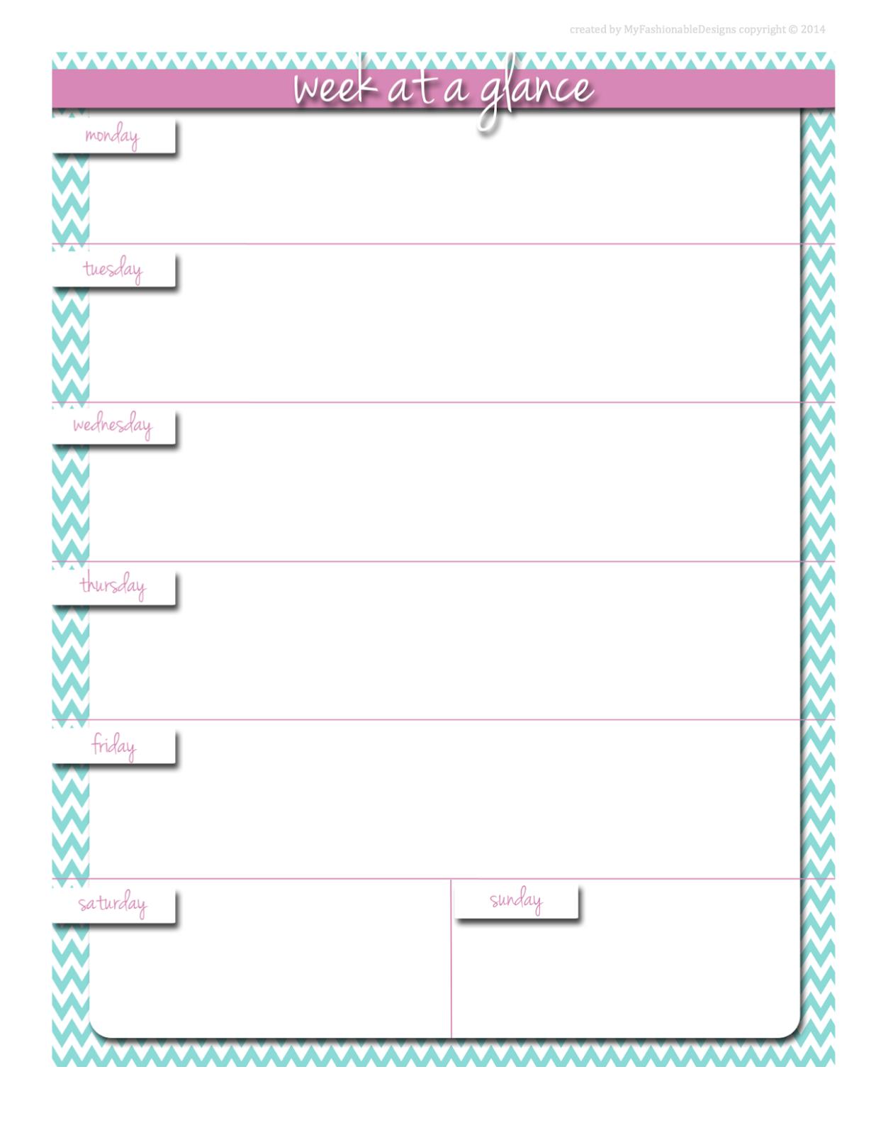 FREE Printable - Weekly planner