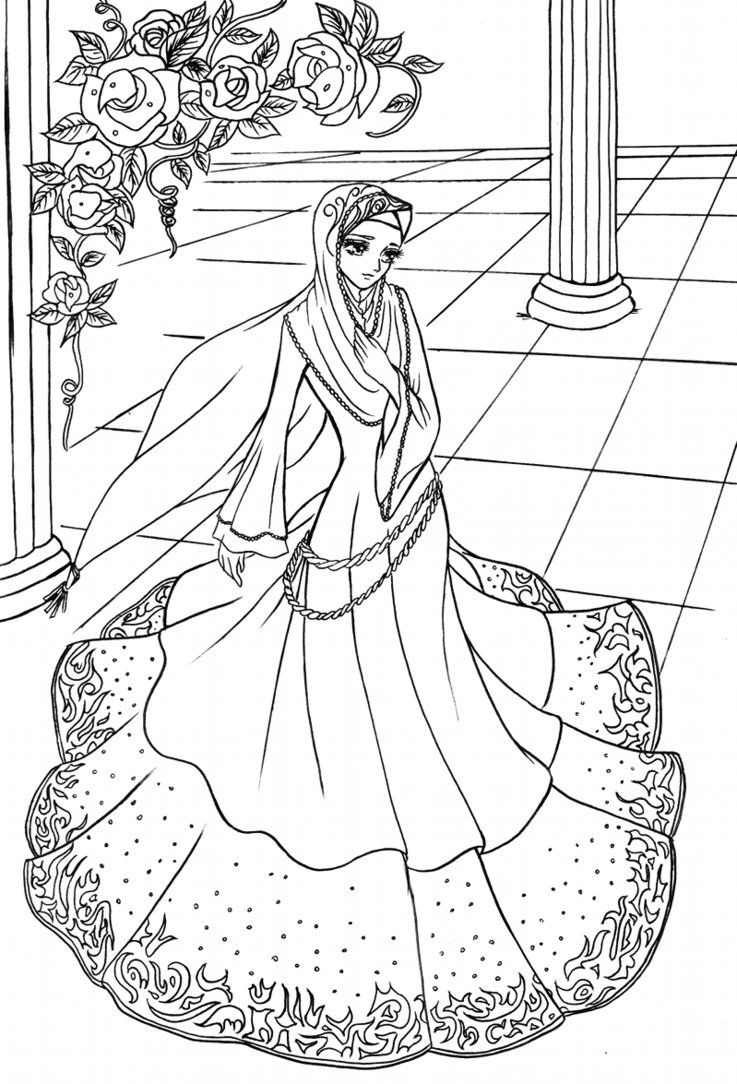 Hijab princess 01 by elyunni on DeviantArt Çizimler