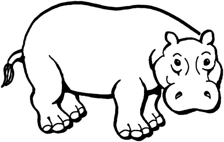 African Animal Coloring Pages Hippopotamus Coloring Pages For Kids Animal Coloring Pages Coloring Pages