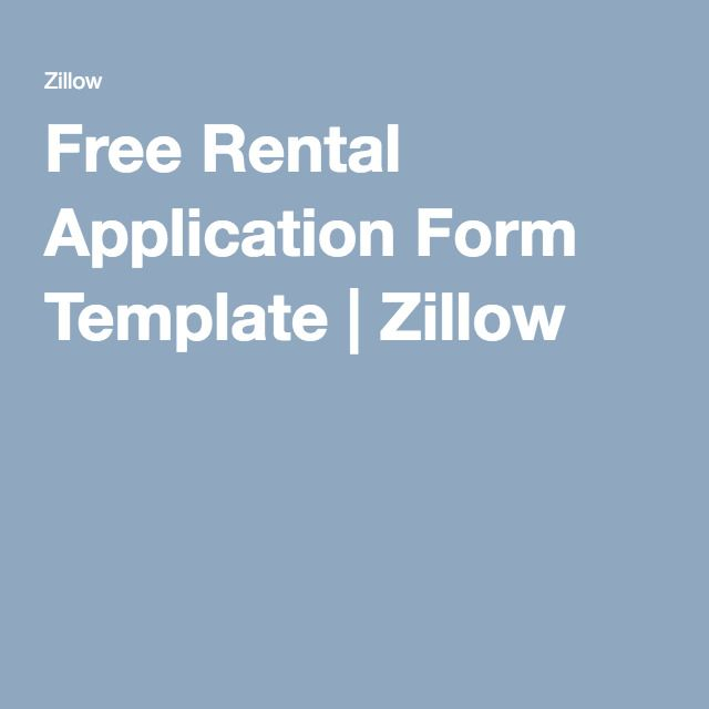 Free Rental Application Form Template | Free