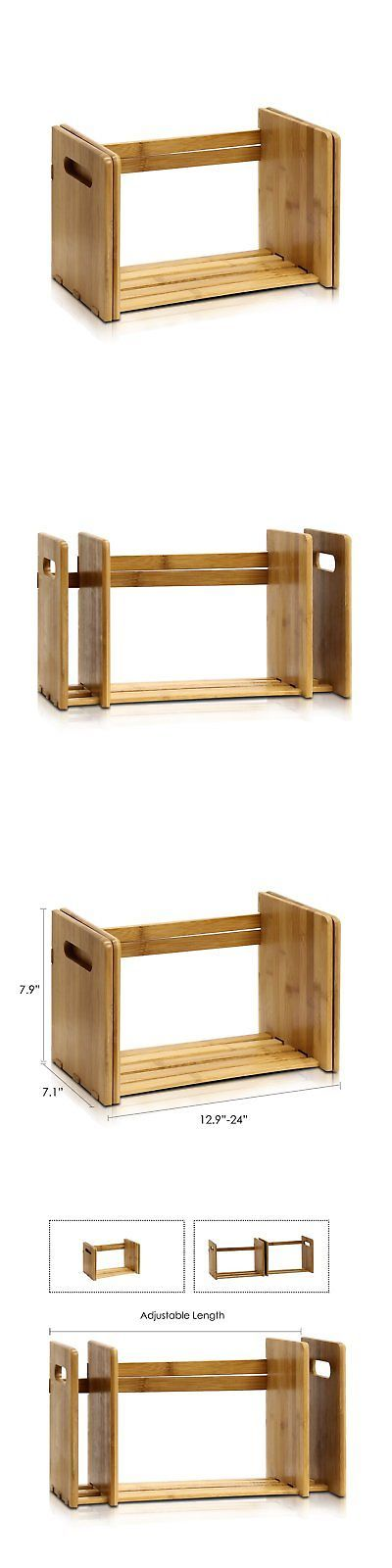 Furinno FNCL-33021 Bamboo Extension Book Rack Natural