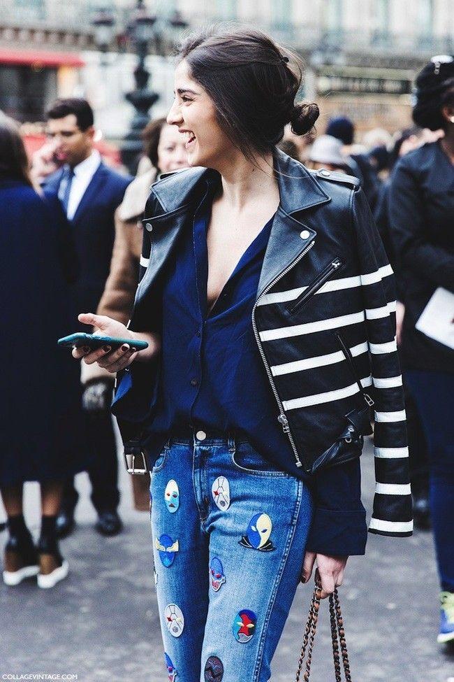 Paris Fashion Week FW 2015 Street Style: Vika Gazinskaya