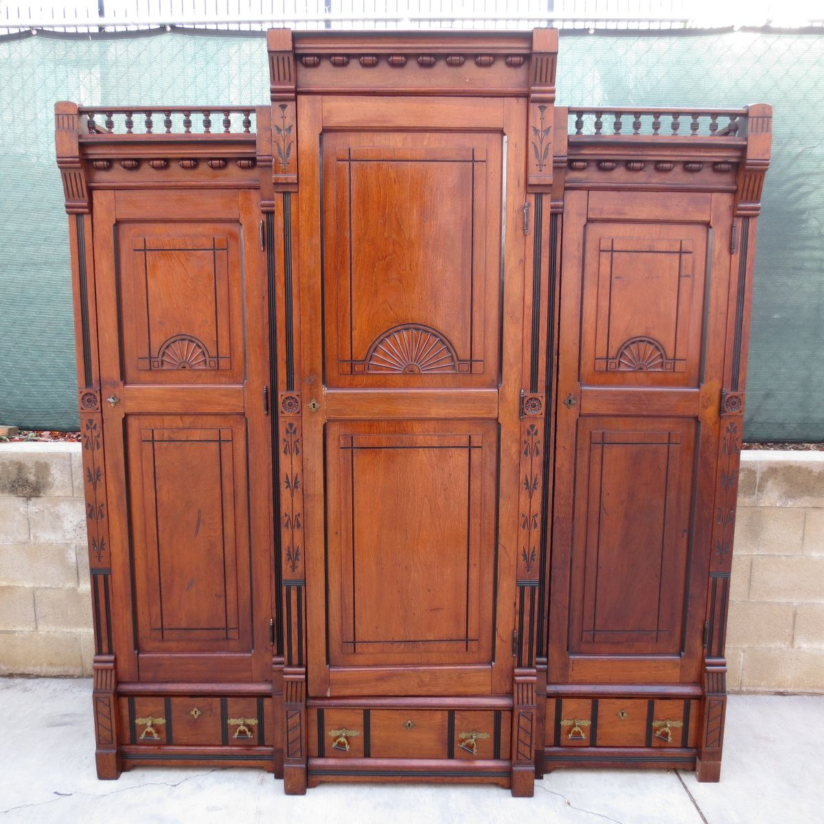 Antique Armoire Antique Cabinet Victorian Antique Furniture Eastlake  Furniture - Antique Armoire Antique Cabinet Victorian Antique Furniture Eastlake