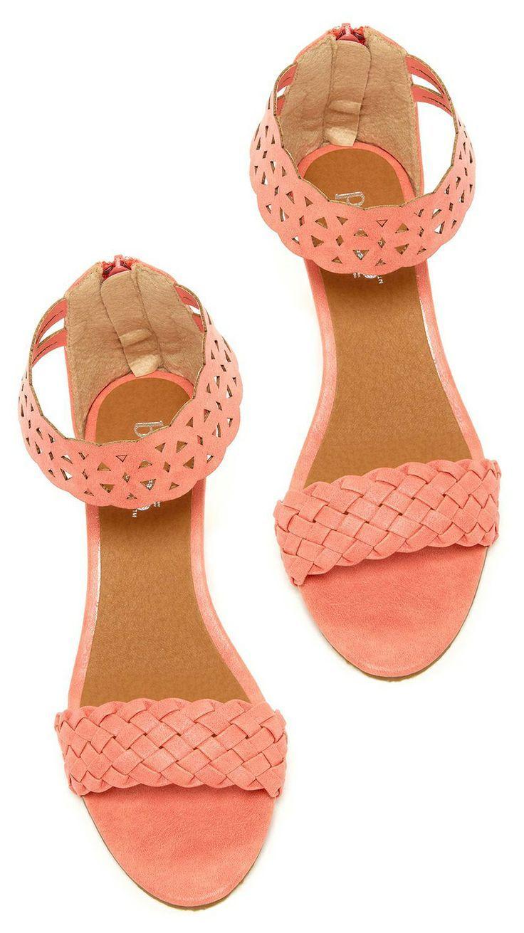 peach color sandals