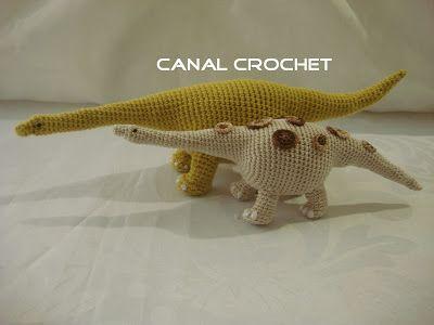 CANAL CROCHET: Dinosaurio amigurumi patrón libre | Amigurumi ...